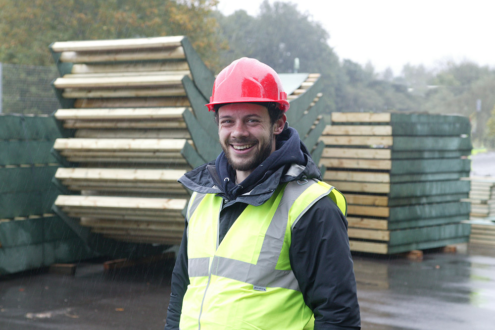 Cambian founder Piers Chapman on-site during a project installation