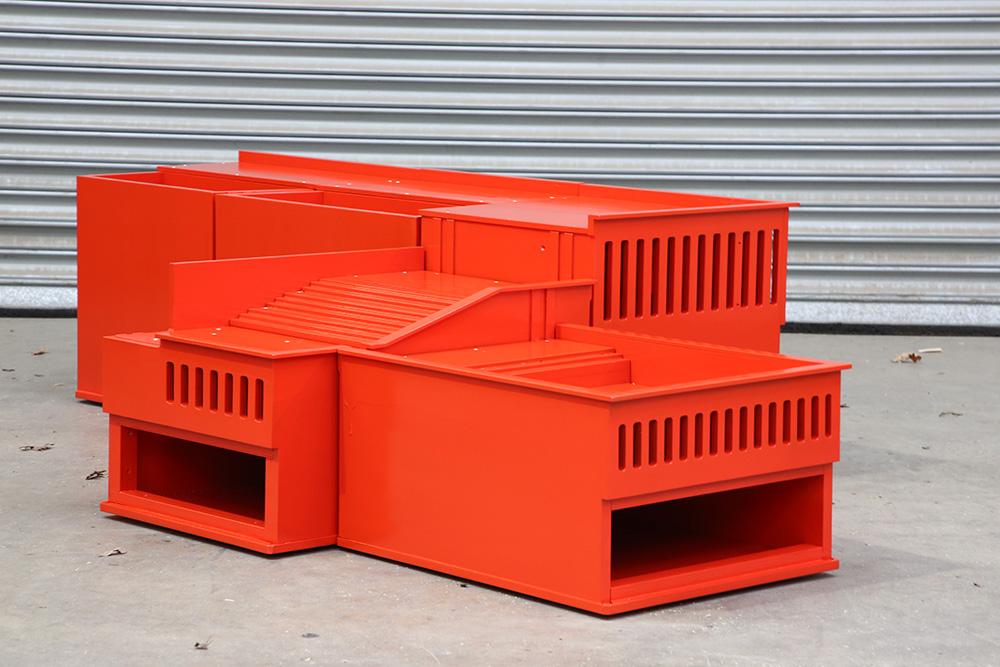 Architectural model used for hydrostatic physical testing assembled from CNC machined sections