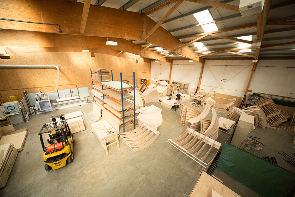 Overhead view of cambian's cnc manufacturing facility and assembly workshop located in Billingshurst, West Sussex